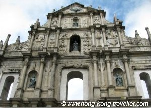 Macau Attractions: Ruins of St Paul