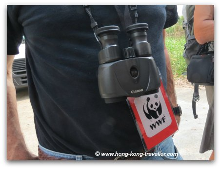 Mai Po Nature Reserve Binoculars and Permit Badge