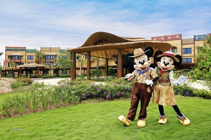 Mickey and Minnie at Disney Explorers Lodge