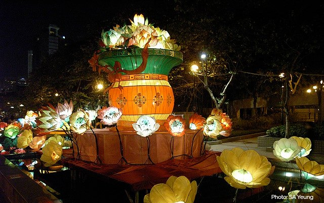 Lantern Displays for Mid-Autumn Festival in Hong Kong