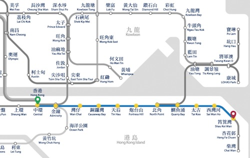Map MTR to Birthday of Tam Kung Celebrations
