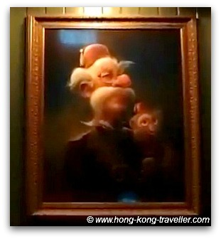 Lord Henry and Albert the Monkey Portrait