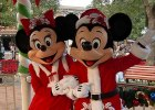 Mickey and Minnie in Christmas outfits