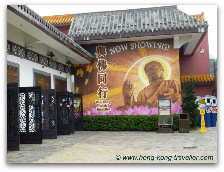 Walking with Buddha at Ngong Ping Village