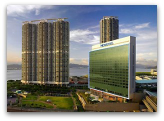 View of the Novotel Citygate Airport Hotel in Hong Kong