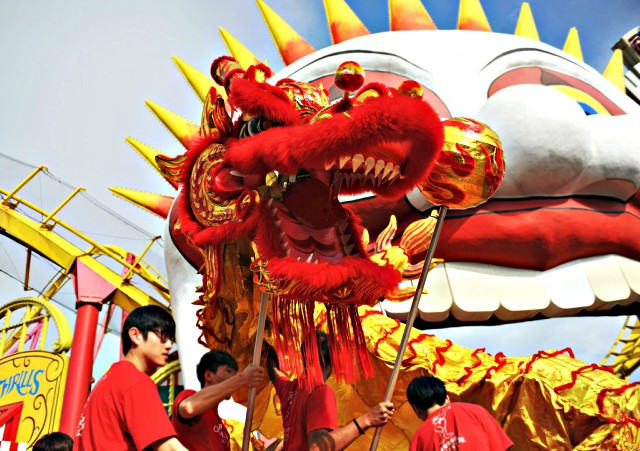 Chinese New Year Dragon Parade at Ocean Park