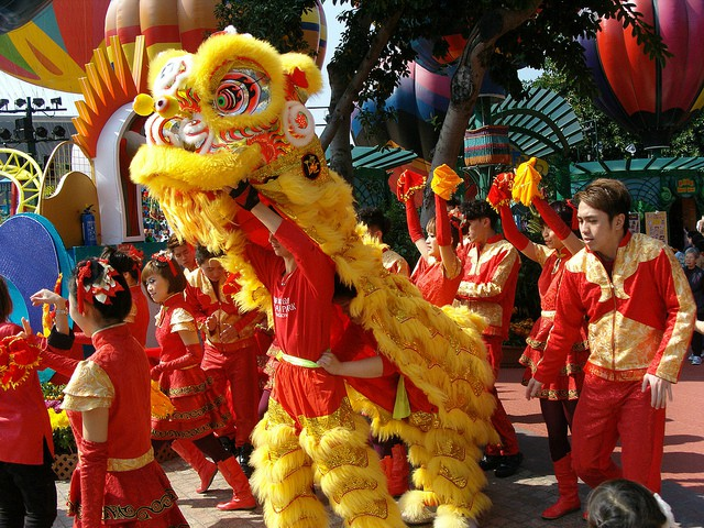 Chinese New Year Lion Dances at Ocean Park