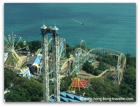 Ocean Park Roller Coasters at Marine World