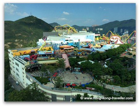 Views from Ocean Park Tower: Thrill Mountain and Polar Adventure