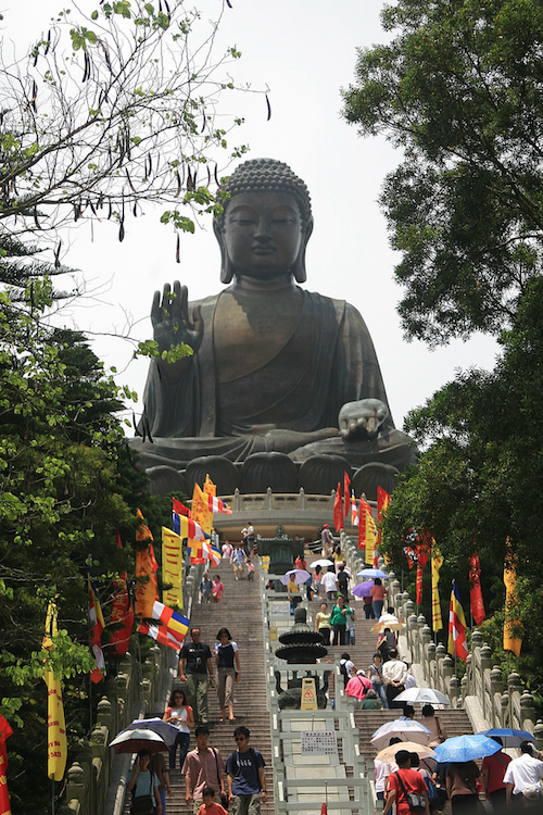 The Big Buddha at the Ngong Ping Village