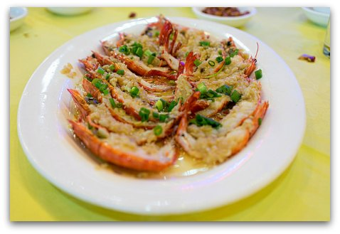 Fantastic Seafood cooked to order in Sai Kung Promenade Restaurant