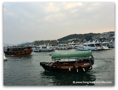 Junks in Sai Kung Harbour