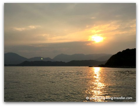 Stunning sunset in Sai Kung