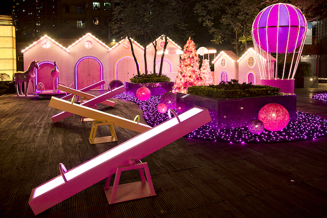 New Town Plaza Christmas Starlight Garden Rosy Christmas