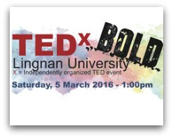 TEDx Bold in Hong Kong