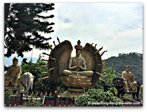 More Buddha statues in the terrace