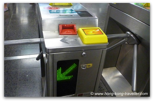 Using Octopus Card at MTR