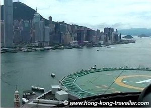 Hong Kong Helicopter Tour taking off from Peninsula Hotel