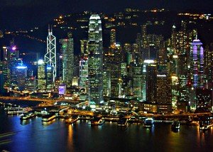 Victoria Harbour from Sky100