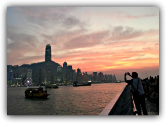 Victoria Harbour from the TST Promenade