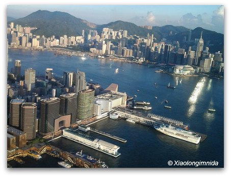 Views of Victoria Harbour and the Port from Sky 100