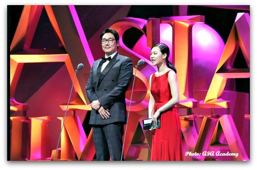Presenters at the 9th Asian Film Awards Ceremony