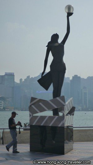 Hong Kong Film Award Statuette at Avenue of the Stars