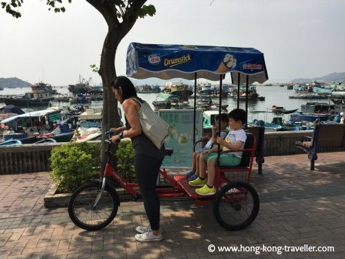 Rent a bicycle or tricycle to cruise around the island