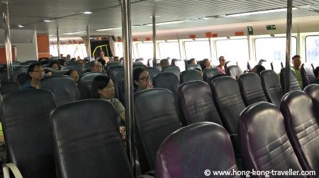 Interior of the Cheung Chau Island Fast Ferry