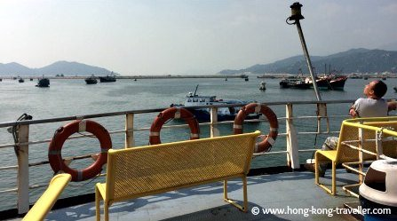 Outside Deck of the Cheung Chau Island Slow Ferry