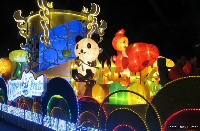 Hong Kong Chinese New Year Parade: the Ocean Park float