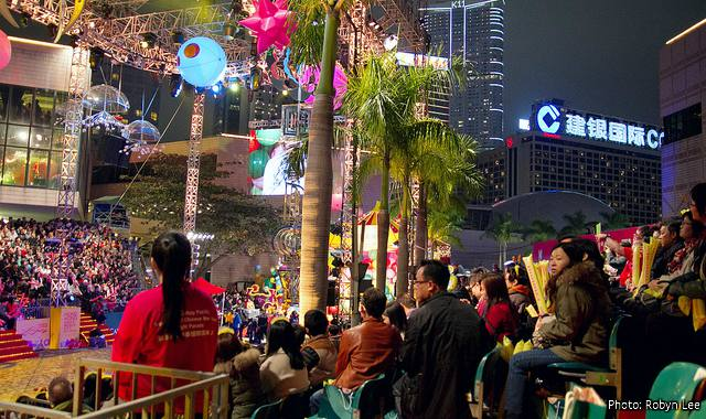 Viewing the Chinese New Year Parade from the Spectator Stands