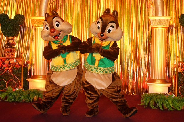 Chip and Dale during Chinese New Year Show
