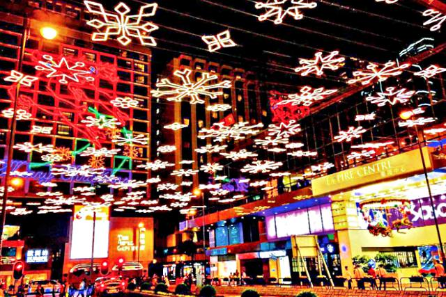 Christmas Displays Tsim Sha Tsui East