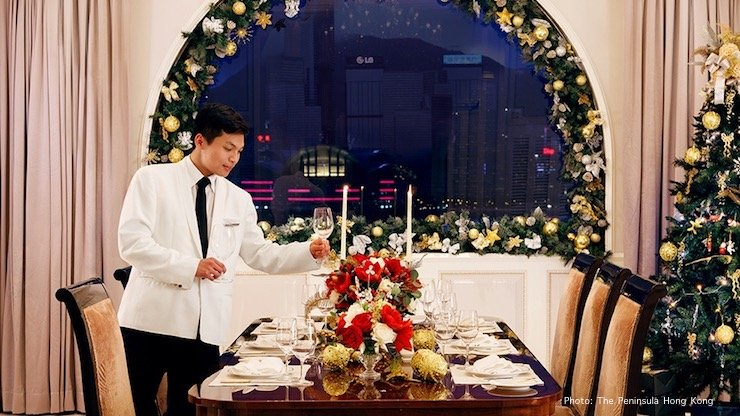 Gearing up for Christmas at the Peninsula