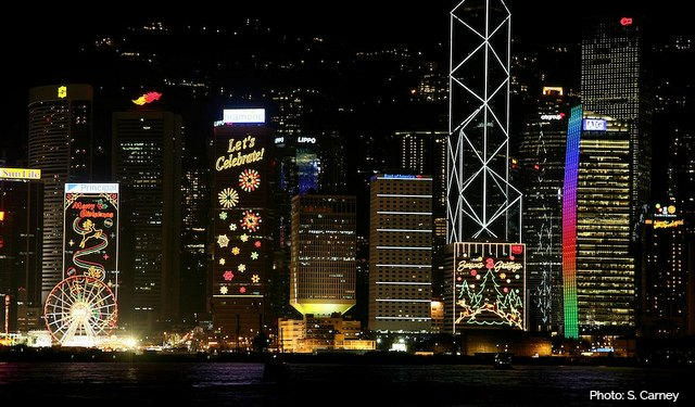 Christmas Lights in Hong Kong