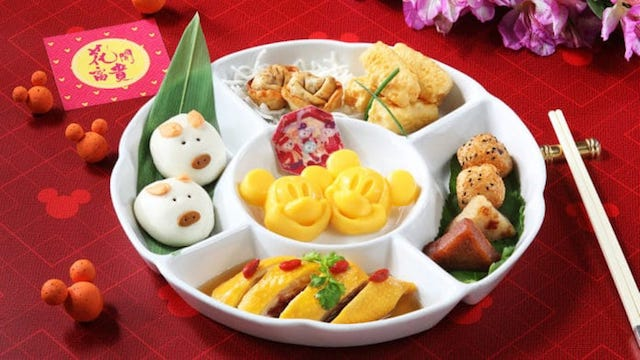 Mickey and Minnie DimSum and other CNY Foods at Disneyland