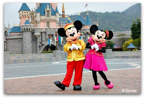 Mickey and Minnie at Chinese New Year
