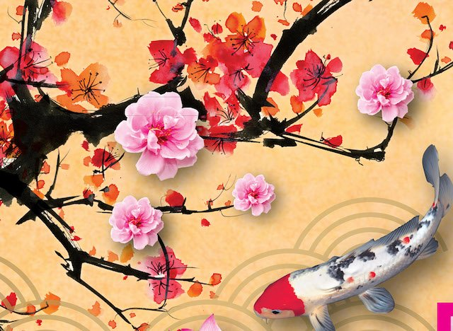 Chinese New Year Traditional Ink Paintings at the Peak