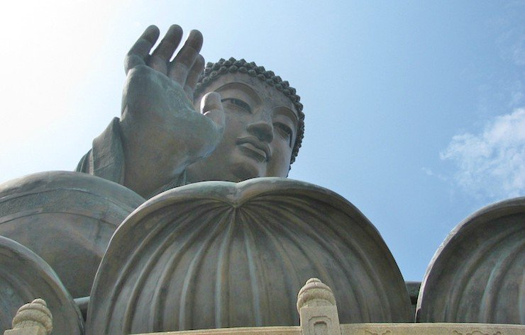 The Hong Kong Big Buddha on a Day Trip to Lantau Island