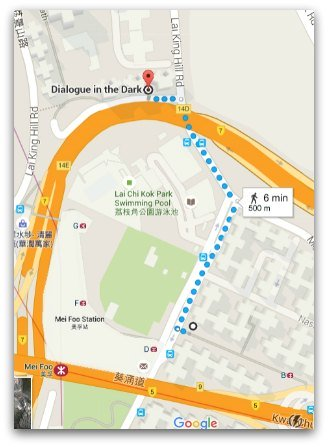 Map Mei Foo Station to Dialogue in the Dark