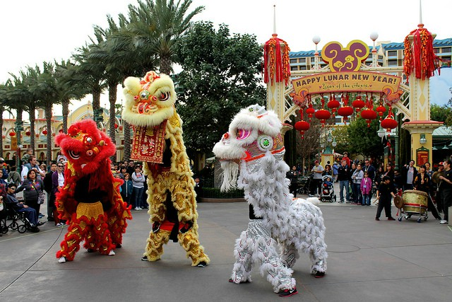 Disney Land Hong Kong Chinese New Year Lion Dance