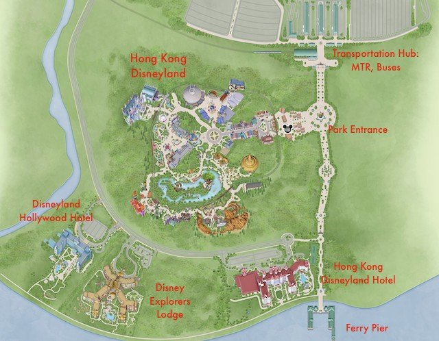 Hong Kong Disneyland Resort: Hotel Locations