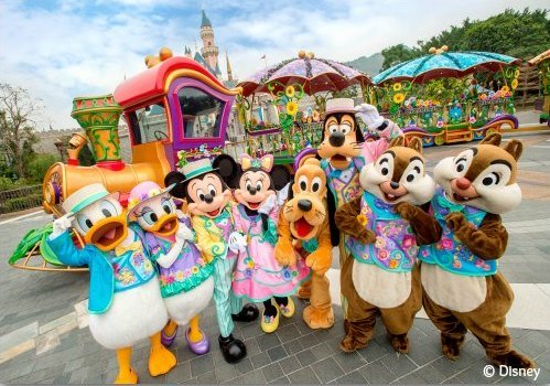 Mickey and Friends at Disneyland Hong Kong's Springtime Carnival