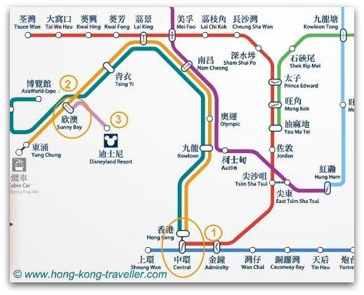 From Central, Tsim Sha Tsui to Hong Kong Disneyland