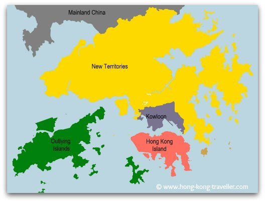 Geography of Hong Kong Main Areas: Hong Kong Island, Kowloon, New Territories and Outlying Islands