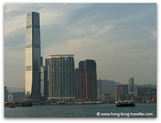 Victoria Harbour Views and the Kowloon skyline from the Promenade