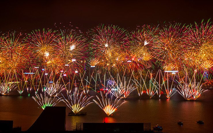 Hong Kong New Year Countdown Fireworks