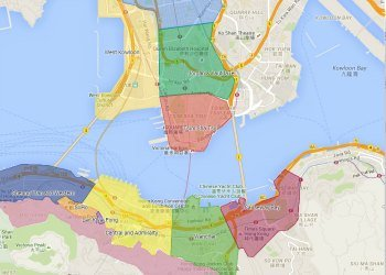 Hong Kong Travel: Neighborhood map