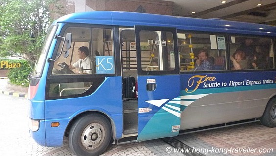 Hong Kong Airport Express Free Shuttle to Hotels
